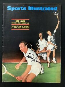 Rod Laver Signed Sports Illustrated 8/26/68 No Label Tennis US Open Cup Auto JSA