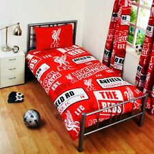 NEW LIVERPOOL FOOTBALL CLUB F.C. SINGLE DUVET QUILT COVER SET BOYS KIDS FANS BED