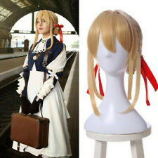 Violet Evergarden Cosplay Wig Blonde Straight Hair Full Wig with Buns US SHIP