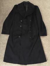 WWII Era Regulation US Navy Uniform Blue Trench Coat Tailored, Size 38-40