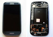 GLS DISPLAY +TOUCH SCREEN+FRAME per SAMSUNG GALAXY S3 GT i9300 Vetro AMOLED BLUE