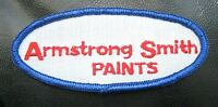 """ARMSTRONG SMITH PAINTS EMBROIDERED SEW ON PATCH COMPANY ADVERTISING 4"""" x 1 1/2"""""""