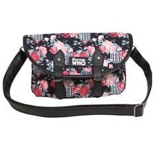 Doctor Who Tardis Floral Print Double Buckle Crossbody Bag Purse Handbag Dr NWT!
