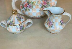 MACKENZIE CHILDS Honeymoon Orange Marmalade Sugar Bowl, Creamer - more pcs avl