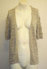 Per Una Machine Knit Shimmery Cardigan. Cream Size 10.  ShimmeryBNWOT