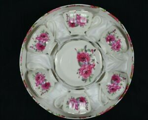 Tae Sset Of 6 Cups And 6 Saucers,Rose Pattern,New Bone China