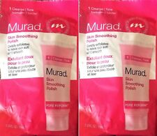 2 x Murad Pore Skin Smoothing Polish Face Exfoliator .33oz Travel Pores Sealed