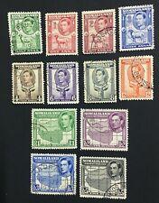 MOMEN: SOMALILAND SG #93-104 1938 USED LOT #60492