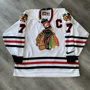 Authentic Chris Chelios 56 XXL Nike Chicago Blackhawks Jersey 1997 Vintage New
