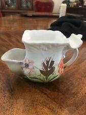 Antique Victorian Flowered Shaving Scuttle Mug Stamped Germany