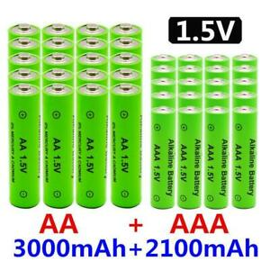 1.5v Rechargeable Aa Battery Aaa Alkne 2100-3000mah Replace Flashlight Toys