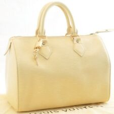 LOUIS VUITTON Epi Speedy 25 Hand Bag Vanilla M4301A LV Authentic sa543