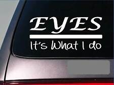 Eyes sticker decal *312* glasses contacts contact solution glasses case doctor