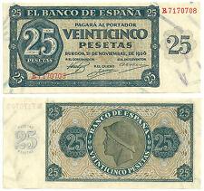 BILLETE DE 25 PESETAS DE 1936 (EBC++) BURGOS (SERIE R)