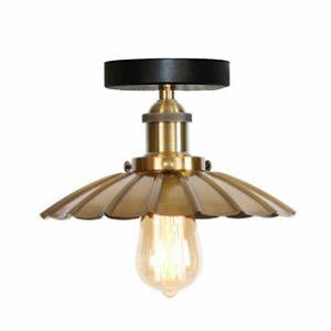 Vintage Industrial Ceiling Pendant Shade Hanging Retro Loft Light Fixture W/Bulb
