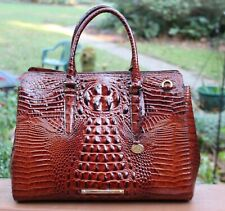 Brahmin Finley Carryall Pecan Melbourne Leather Satchel