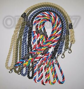 Extra Heavy Duty Dog Clip Lead 14 mm Rope Various Sizes & Colours Handmade