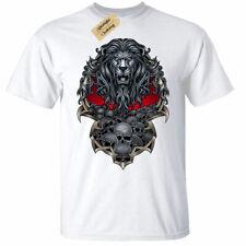 Lion Skull Mens T-Shirt pile pride warrior gothic