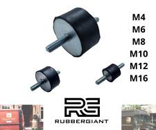 More details for rubber mount car boat bobbin anti vibration m4 m6 m8 m10 m12 m16 cylindrical / a