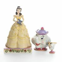 Jim Shore Disney Traditions Belle Mrs. Potts & Chip Figurines Beauty & the Beast