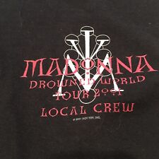 2001 Madonna Drowned World Tour Local Crew  Backstage Stagehands T-shirt Size XL