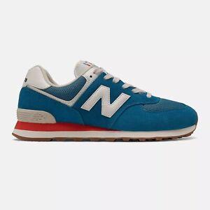 NEW BALANCE 574 Classic Scarpe Uomo Sneakers Suede Textile BLUE ML574HC2