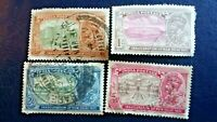 India Postage Stamps 1/4 1 2 3 Anna 1931 X 4 New Delhi