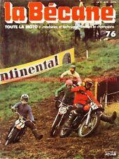 LA BECANE  76 WERNER 232Histoire Moto Cross Jim CONNOR Debbie EVANS HUSQVARNA