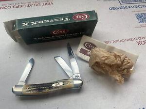 Case XX 6.5318 SS Nice Bone Stag Stockman, Mint Knife, Original Box Item #03578