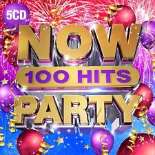 NOW 100 HITS PARTY (Various Artists) 5 CD Set (2019) (New & Sealed)
