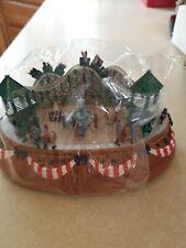 Liberty Falls Music Box Roller Coaster Western Christmas Snow Village