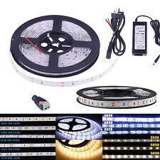 5M 5630 5050 3528 3014 SMD 300 600 LED Tira de Luz LED Flexible Impermeable DC12V