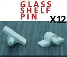 12x GLASS SHELF PIN PEGS BRACKET SUPPORT SHELF BATHROOM CABINET CUPBOARD SAFETY