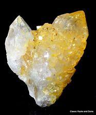 Cactus spirit quartz yellow Goethite cactus quartz citrine spiritquarz Afrique du sud