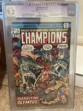 Champions #3 (CGC 9.2) White Pages; Ghost Rider, Black Widow 1976 Marvel