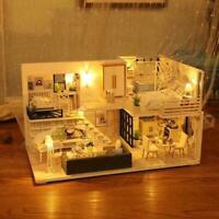 DIY Wooden Handcraft Dolls House Dollhouse Miniature Kit 2020 Funiture Top B4P8