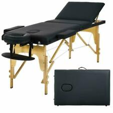 Massage Table Massage Bed Spa Bed 73 Inch Portable Heigh Adjustable 3 Folding Ma