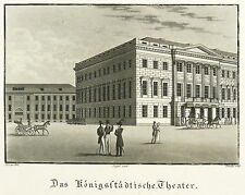 BERLIN - Königsstädtisches Theater - Jügel - Aquatinta 1834