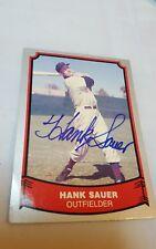HANK SAUER #23 SIGNED AUTOGRAPH ON baseball Legend card