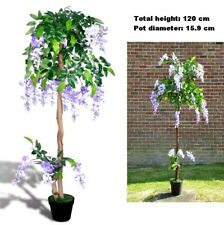 Artificial Wisteria Tree Pot Fake Flowers Potted Office House Entry Plants Decor