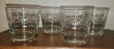 Vintage Set 4 Cut Glass High Ball Rocks Scotch Whiskey Glasses Bar Drink Ware