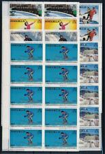 [G356538] Anguilla 1980 Olympics lot of 6 good sheets very fine MNH