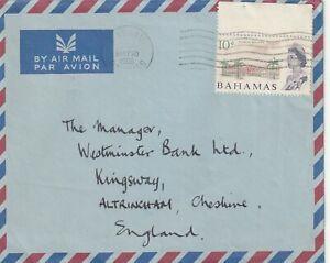 1966 Bahamas cover sent from Nassau to Altrincham,Cheshire UK