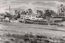 Harlow: le Chantry house, par Michael Rothenstein. Essex; impression vintage 1947