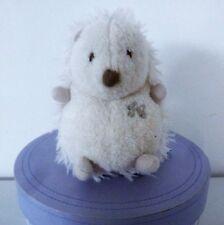 Tartine et Chocolat***doudou peluche hérisson blanc et beige 13 cm