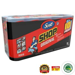Scott Shop Towels wipes Heavy Duty Multi-Purpose Cleaning Cloths 10 roll / 550pc