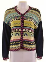 BENETTON Womens Cardigan Sweater Size 10 Small Blue Cotton Oversized CG17