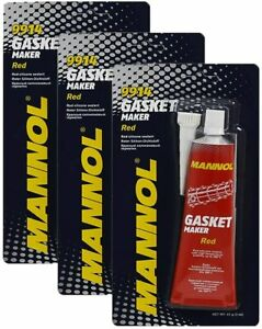 3x Mannol 9914 RTV Silicone Sealant RED Gasket Maker High Temp Sealant 85g