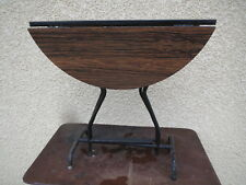 ancienne table formica ronde pliante d'appoint vintage antiquité france