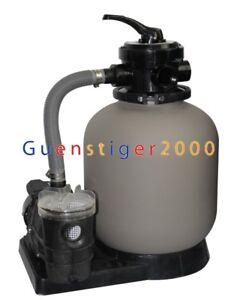 Sandfilter Sandfilteranlage Poolfilter Poolpumpe Filteranlage 10m³ Filterkessel